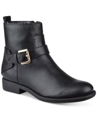 Tommy Hilfiger Safire Buckle Ankle Booties Women's Shoes Black