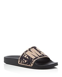 Msgm Logo Slide Sandals Black