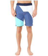 Nautica Diaginal Color Block Trunk Union Blue Men's Swimwear