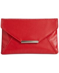 Styleandco. Style And Co. Lily Shiny Serpent Envelope Clutch Only At Macy's Red Serpent