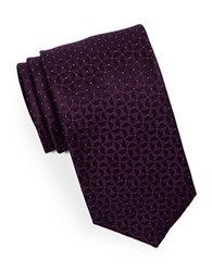 Hugo Silk Pindot Tie Purple