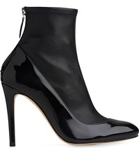 Lk Bennett Kylie Leather Heeled Ankle Boots Bla Black