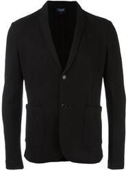 Armani Jeans Patch Pockets Blazer Black