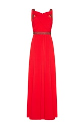 Almost Famous Embellished Maxi Dress Coral