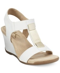Anne Klein Loona Wedge Sandals A Macy's Exclusive Style White