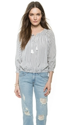 Faithfull Indian Summer Top Yatch Stripe Black White