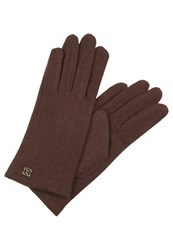 Coccinelle Dora Gloves Bark Red Metallic