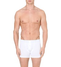 Hanro Superior Short Leg Trunks White