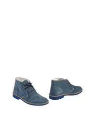 Gold Brothers Ankle Boots Slate Blue