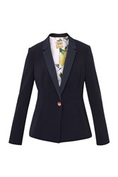 Ted Baker Zizij Ottoman Single Button Blazer Navy