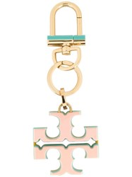 Tory Burch Logo Keyring Pink Purple