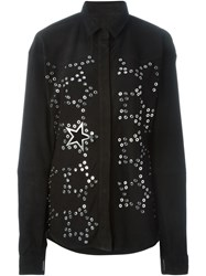 Anthony Vaccarello Star Eyelet Shirt Black