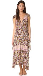 Free People Petra Maxi Dress Purple Combo