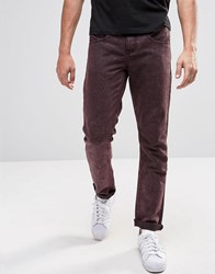 Native Youth Skinny Fit Wash Jeans Purple Blue