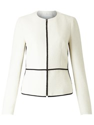 Hugo Boss Karolea Zip Through Boucle Jacket Cream