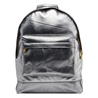 Mi Pac Gold Pebbled Mini Backpack Silver Black