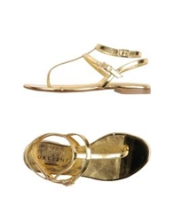 Orciani Thong Sandals Gold