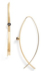 Jules Smith Designs Women's Jules Smith Open Hoop And Pronged Bar Earrings