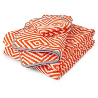 Jonathan Adler Arcade Orange And Grey Towel Hand Towel
