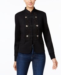 Inc International Concepts Soutache Military Jacket Only At Macy's Deep Black