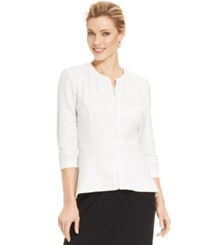 Alex Evenings Three Quarter Sleeve Sequin Lace Jacket And Top White