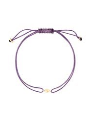 Natasha Collis 18Kt Gold Nugget Friendship Bracelet Pink And Purple