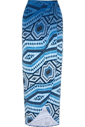 Tart Annina Printed Stretch Modal Maxi Skirt Blue