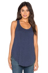 Wilt Slub Shrunken Shirttail Tank Blue