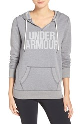 Under Armour Women's 'Favorite' Logo Hoodie True Gray Heather White