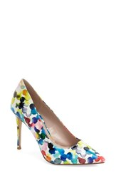 Women's Dune London 'Blosome' Pump Red Multi Patent