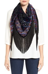 Collection Xiix Women's Ikat Print Fringe Scarf