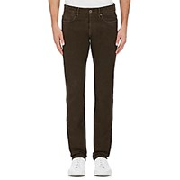 Incotex Men's Neat Pattern Jeans Brown
