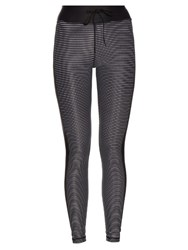 The Upside The Lauren Striped Performance Leggings Black Multi