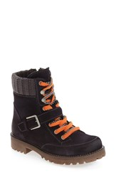 Bos. And Co. Women's 'Colony' Waterproof Boot Navy Grey Oil Suede