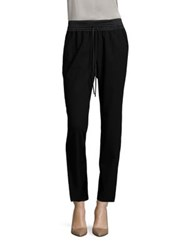 Lafayette 148 New York Ankle Track Pants Black