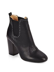 Saks Fifth Avenue Studded Leather Chelsea Boots Black