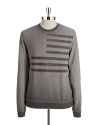 William Rast French Terry Pullover Light Grey