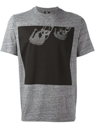 Paul Smith Ps By Cycling Print T Shirt Grey