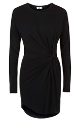 Curved Hem Knot Dress By Wal G Black