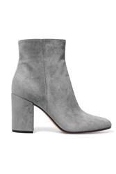 Gianvito Rossi Suede Ankle Boots Gray