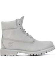 Timberland Lace Up Hiker Boots Grey