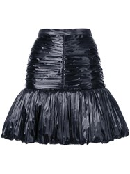Saint Laurent Peplum Hem Skirt Black