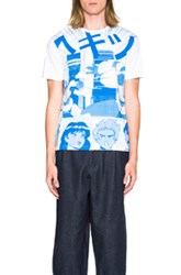 Loewe Anime Tee In White Abstract