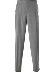 E. Tautz Pleated Trousers With Belt Loop Brown