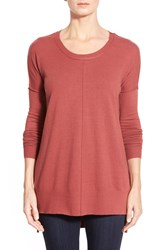 Coin 1804 Dolman Sleeve High Low Tunic Marsala Red