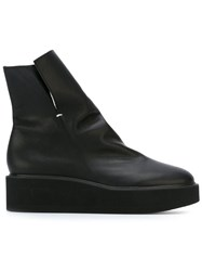 Y's Wedge Boots Black