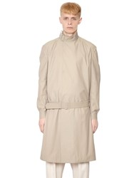 J.W.Anderson Belted Techno And Cotton Blend Trench Coat