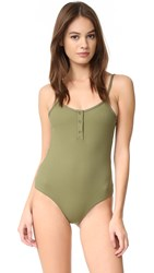 Tavik Lila Ribbed One Piece Olive Ribbed