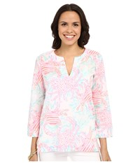 Lilly Pulitzer Amelia Island Tunic Resort White Getting Steamy Women's Blouse