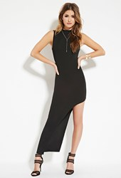 Forever 21 Asymmetrical Bodycon Dress Black